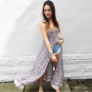 LF JAASE floral maxi duster dress